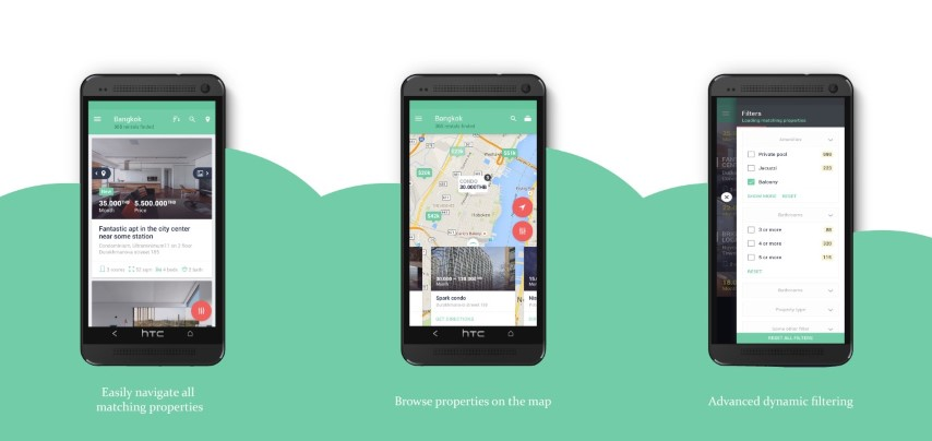 FindYourSpace Android mobile app